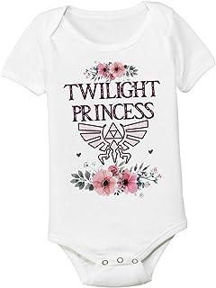 Pretty Twilight Princess 6-12 Months Zelda Graphic Baby Bodysuit Onesie Toddler Kids Tshirt Tee Girly Nerd Gamer Mom and Dad Shower Gift