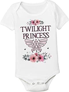 Pretty Twilight Princess 3-6 Months Zelda Graphic Baby Bodysuit Onesie Toddler Kids Tshirt Tee Girly Nerd Gamer Mom and Dad Shower Gift
