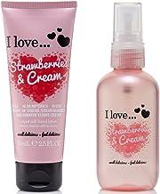 I Love... Strawberries & Cream Body Spritzer 100ml & Hand Lotion 75ml Duo