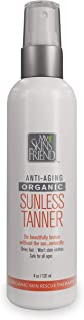 My Skin's Friend Self Tanner. Organic. Self Tanning Lotion For Face and Body In a Spray. Sunless Tanning Lotion Tans Naturally. Cruelty Free Vegan formula. Natural Self Tanning Spray