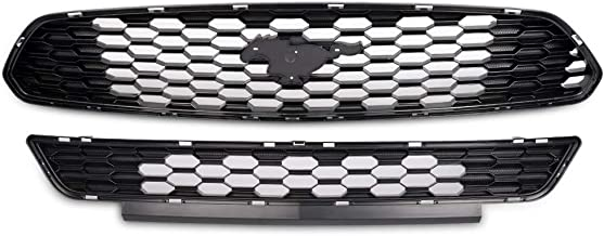 Upper Lower Grille For Ford Mustang GT 5.0L 2015 2016 2017 Front Bumper Hood Mesh Grill Set Without Emblem