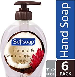 Softsoap Liquid Hand Soap, Coconut and Warm Ginger - 11.25 fluid ounce (6 Pack)