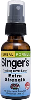Singer's Saving Grace Extra Strength - Promotes Voice Clarity & Vocal Comfort - Herbal Remedy Soothes Moistens & Lubricate...