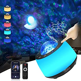 Sponsored Ad - Galaxy Projector Star,2 in 1 Led Night Light Planetarium and Galaxy Projector with Moon,Ocean Wave Projecto...