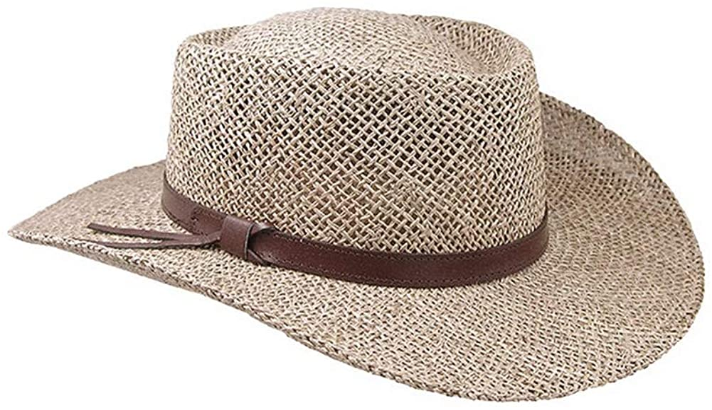 Stetson Gambler Straw Cowboy Wheat Hat at Amazon Men's Clothing store
