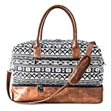 MyMealivos Canvas Weekender Bag, Overnight Travel Carry On Duffel Tote with Shoe Pouch...