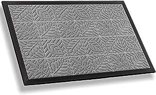 Mibao Entrance Door Mat Large Heavy Duty Front Outdoor Rug Non-Slip Welcome Doormat for Entry, 18 x 30 inch, Grey