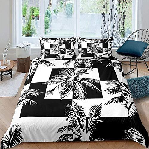 dsgsd Imagen de impresión de funda nórdica de impresión 3D Paisaje vintage blanco y negro 150x220cm Juego de ropa de cama con funda nórdica 3D juego de cama con edredón de cama king con impresión digi