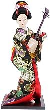 D DOLITY Muñecas Japonesa Estatua de Geisha Kimono Muñeca Colorida Regalo Divertido para Muchachas - # 18