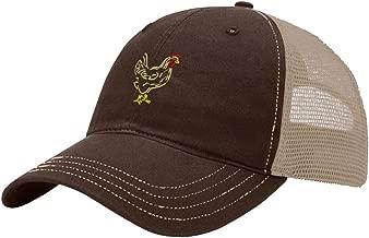 Custom Trucker Hat Richardson Chicken Outline Embroidery Animal Name Cotton