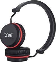 boAt Rockerz 400 Bluetooth On-Ear Headphone with Mic(Black/Red)