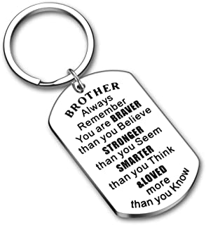 Brother Gift from Sister Big Brother Step Little Brother Christmas Gifts for Men Boys Always Remember You are Braver Stock...