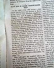 KANSAS-NEBRASKA ACT Western Expansion ANTHONY BURNS Slavery Case 1854 Newspaper THE NATIONAL ERA, Washington, D.C, June 1, 1854