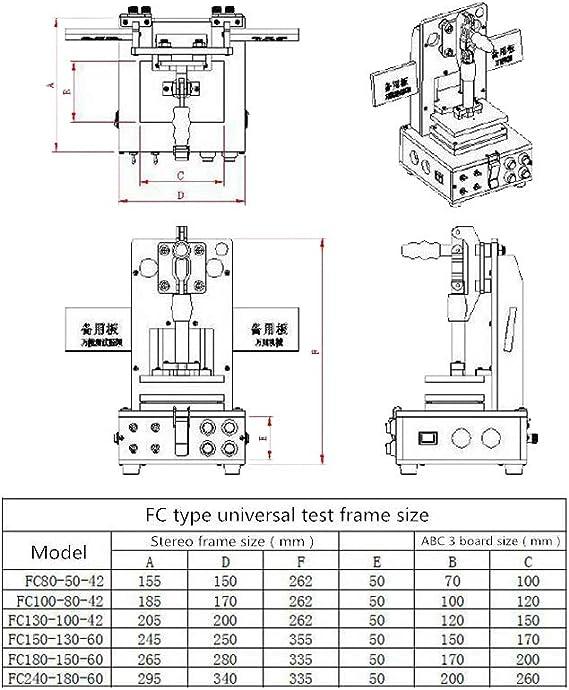 Universal Test Frame PCB Testing jig PCB Test Fixture Tool Bakelite Fixture