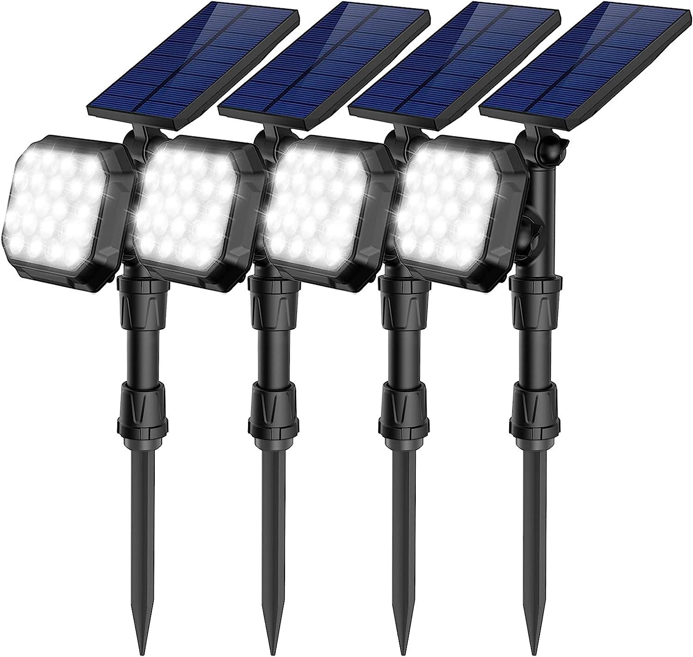 ROSHWEY Solar Landscape SpotLights Outdoor 22 Ranking TOP6 700 LED Lumens Br Award