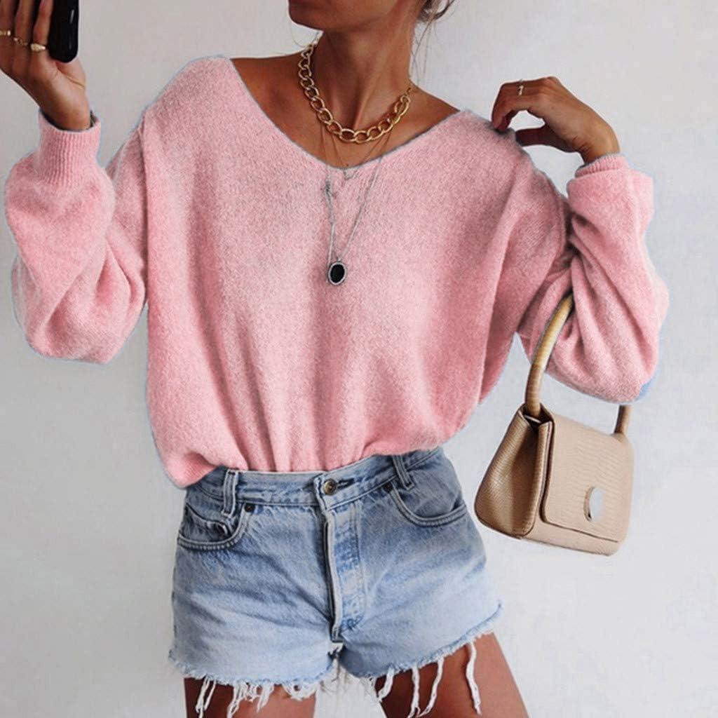 VEMOW Suéter Pullover Camiseta Mujer Invierno Tejido de ...