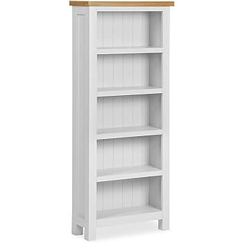 Roselandfurniture Farrow White Narrow Bookcase Contemporary