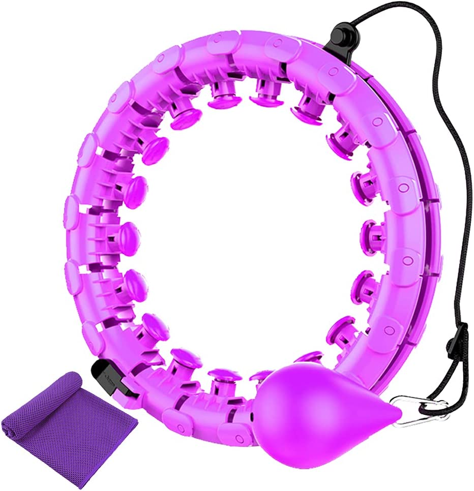 YUZ discount Weighted Smart Fitness Hoops for Abdomen Adults Max 65% OFF Fitne in 1 2