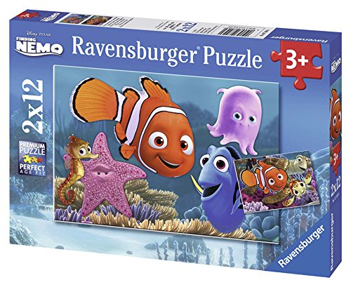Ravensburger Kinderpuzzle 07556 - Nemo der kleine Ausreißer - 2 x 12 Teile