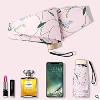 Mini Ultra Light Fold Umbrella Anti Hyococ (Color : Pink)