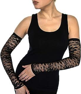 ألتا 8 أكمام الذراع ودفايات الذراع العصرية للنساء، أغطية الأذرع أو الوشم، قفازات طويلة بدون أصابع، إكسسوارات، ملابس أثرية