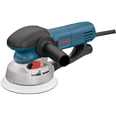 """Bosch Power Tools - 1250DEVS - Electric Orbital Sander, Polisher - 6.5 Amp, Corded, 6"""""""" Disc Size - features Two Sanding Modes: Random Orbit, Aggressive Turbo for Woodworking, Polishing, Carpentry"""