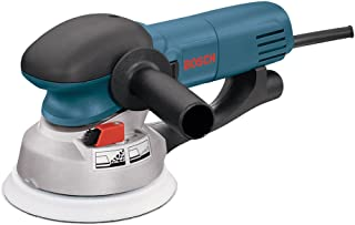 "Bosch Power Tools - 1250DEVS - Electric Orbital Sander, Polisher - 6.5 Amp, Corded, 6"""" Disc Size - features Two Sanding Modes: Random Orbit, Aggressive Turbo for Woodworking, Polishing, Carpentry"
