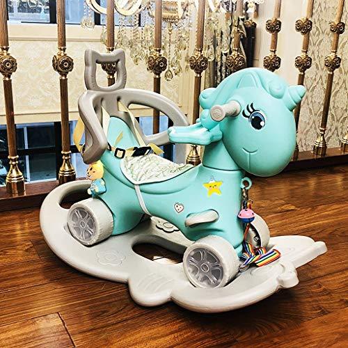 Avec dîner cheval de Troie for enfants Plate Toy Rocking Horse Rocking Chair bébé cadeau Lostgaming (Color : A1)