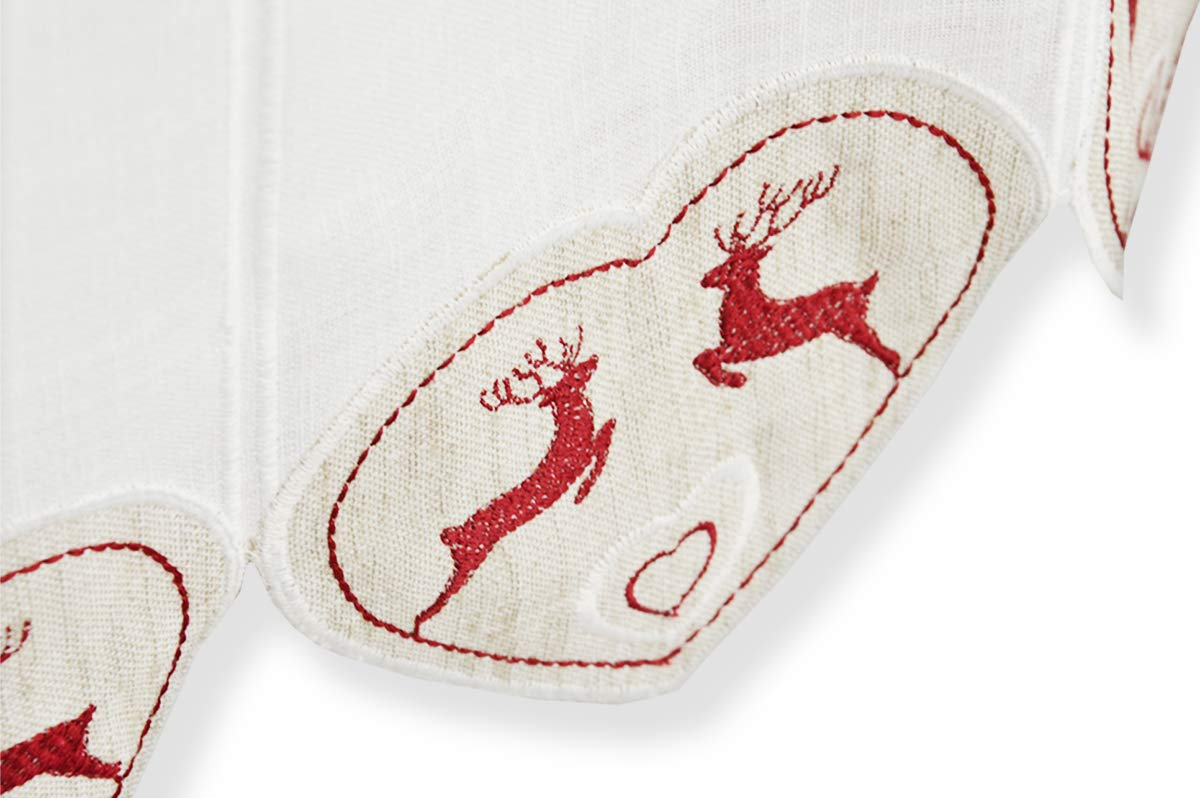 RP Juego de 2 faldones Bordados Badia Cervi h 17 – 100% algodón ...