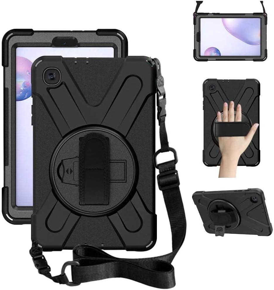 ZenRich Galaxy Tab A 8.4 Case (2020), SM-T307/SM-T307U Case with Kickstand Hand Strap and Shoulder Strap zenrich Heavy Duty Shockproof Case for Samsung Galaxy Tab A 8.4 T307 Verizon /Sprint (Black