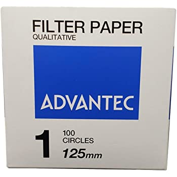 Pack of 100 Qualitative Filter Paper 110 mm Length No Cotton Linter Cellulose 0.25 mm Thickness 131 Advantec MFS N013111.0CM