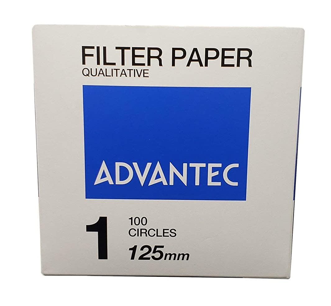 Advantec MFS N0112.5CM Qualitative Filter Paper, No. 1, 0.20 mm Thickness, 125