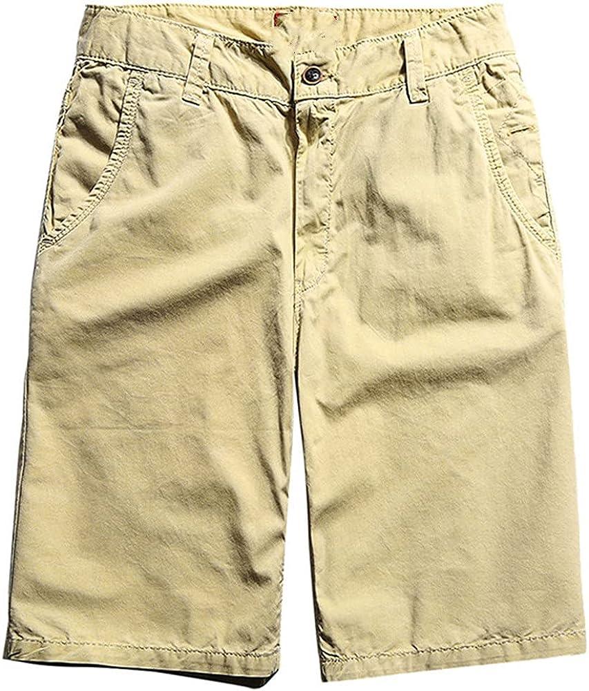 NP Men's Summer Casual Loose Color Shorts Men Street Knee-Length Beach Shorts