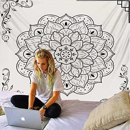 Tapiz de mandala indio colgante sol Luna Tarot psicodélico manta de pared decoración del hogar dormitorio tela de fondo A6 180x200cm