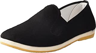 Mens Womens Black Slip-On Martial Art Kung-Fu Tai-Chi Soft Cushion Layers Shoes House Slippers