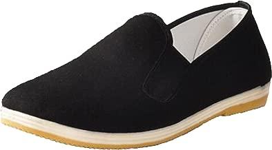 WUIWUIYU Mens Womens Black Slip-On Martial Art Kung-Fu Tai-Chi Soft Cushion Layers Shoes House Slippers