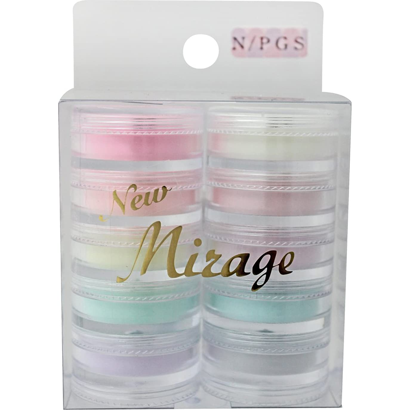 多用途スポンサーなかなかMirage カラーパウダー10色セット N/PGS