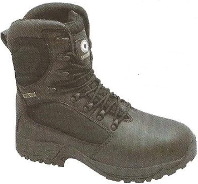 Lambretta Black Leather Safety Waterproof Combat Boot 6-13