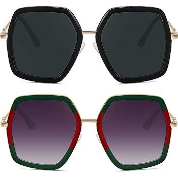 WOWSUN Oversized Fashion Sunglasses For Women Hexagon Inspired Brand Designer Style