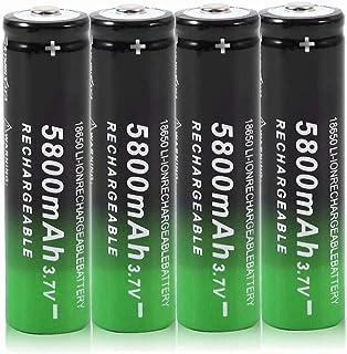 18650 batterijen, 3,7 V, oplaadbaar, 5800 mAh, knop top 3,7 V, lithium-batterij 18650, intelligente batterijen, oplaadbaa...