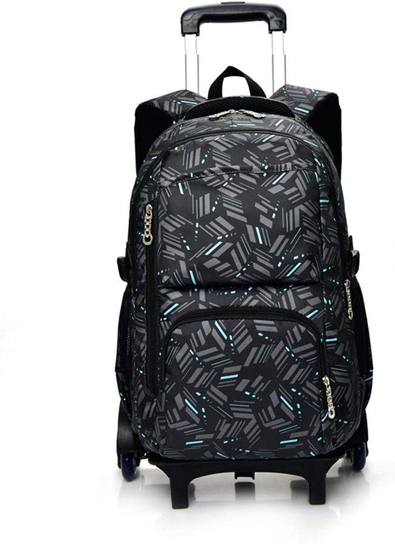 3D Backpack Zaino per Bambini Zaino per Bambini con Ruote A 6 Ruote. Zaino per Bambini Zaino per Bambini Zaino Trolley borsa 5-12 Anni C-6 ruedas