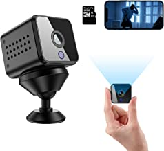Mini Hidden Spy Camera HD 1080P Wireless WiFi Nanny Cam with Audio Live Feed Night Vision and Motion Detection Portable Security Surveillance Camera for Indoor/Home/Apartment/Office with 32G TF Card
