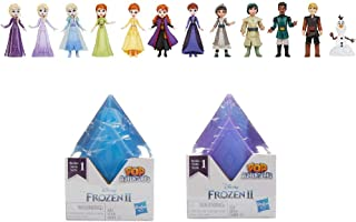 Disney's Frozen 2 Pop Adventures Series 4 Blind Box With Dolls in Crystal-Shaped Case, Toy for Kids