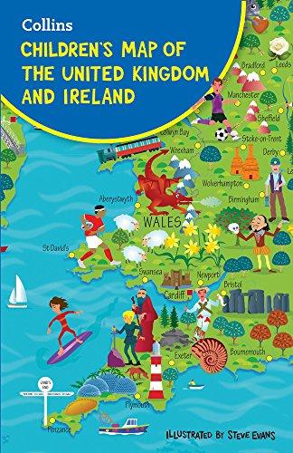 Children's Folded Map of the United Kingdom