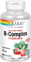 Solaray Vitamin B-Complex 250mg Chewable | Natural Strawberry Flavor | Healthy Hair, Skin, Immune Function & Metabolism Su...