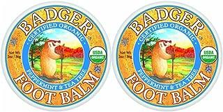 Badger - Foot Balm Peppermint & Tea Tree - 2 oz. (Pack of 2)