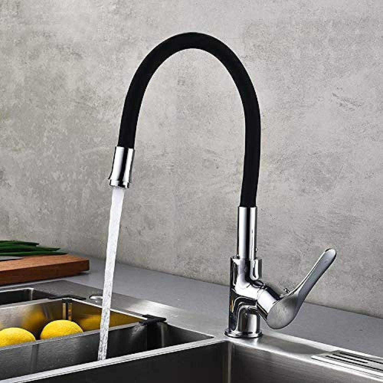 Wasserhahn Edelstahl Messing Chrom Bad Wasserhahn Wasserhahn Kupfer Schwarz Big Curved Hot und Cold Pull Wasserhahn Küchenarmatur Waschbecken Wasserhahn