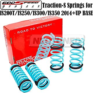 Godspeed(LS-TS-LS-0008) Traction-S Performance Lowering Springs For Lexus IS200T/IS250/IS300/IS350 2014+Up Base gsp set kit