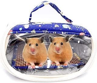 Borangs Hamster Carrier Bag Small Animals Portable Outgoing Travel Bag with Detachable Strap Zipper Breathable Outdoor Handbag for Guinea Pig Hedgehog Chinchilla Rats Sugar Glider Ferret