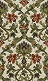 Möbelstoff Gauguin 533 Blumenmuster Farbe grün als